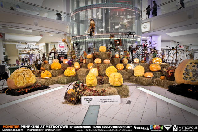 Monster Pumpkin Display