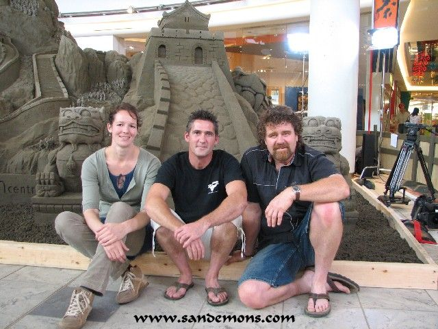 Charlotte, David and Fred - Completed Sculpture