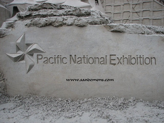 Pacific National Exhibition Sand Logo